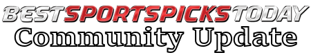 "Logo with text reading ""Best Sports Picks Today Community Update"""